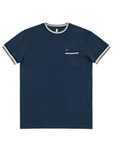 T-shirt uomo ROUND KNIT RIB & POCKET S/S SUN68