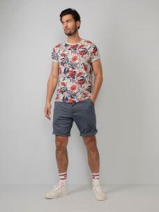 T-Shirt fiammata fantasia PETROL