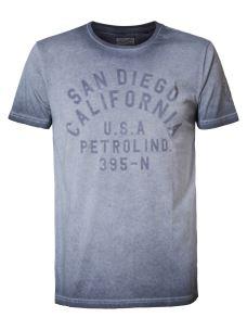 T-Shirt stone washed PETROL