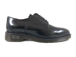 CULT 101625 OZZY LOW 412 BRUSHED LEATHER BLACK ALLACCIATA UOMO