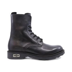 CULT 103160 ZEPPELIN MID 472 LEATHER BLACK ANFIBIO DONNA