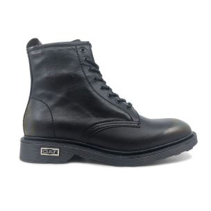 CULT 103770 OZZY MID 416 WASHED LEATHER BLACK ANFIBIO UOMO NERO
