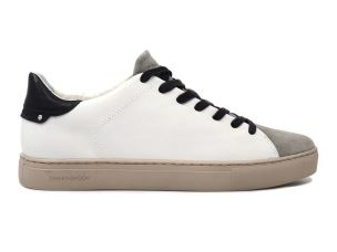 CRIME LONDON 11113 BEAT SNEAKER UOMO IN PELLE BIANCA