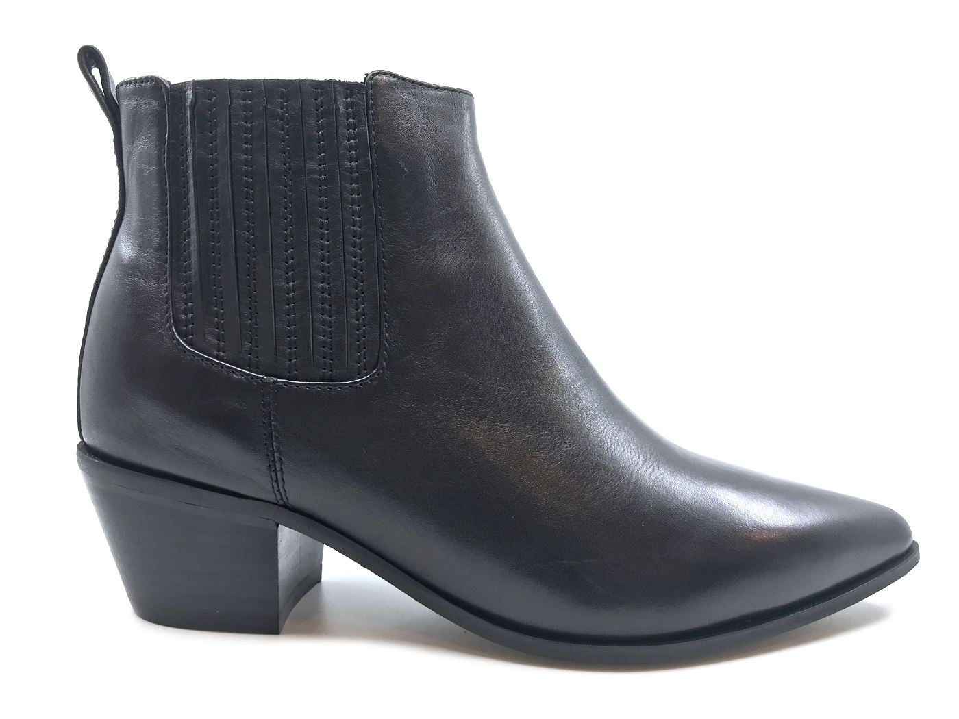 THE SELLER 1113 CALF NERO STIVALETTO DONNA IN PELLE NERA