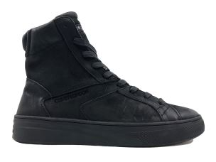 CRIME LONDON 11370 YEYO SNEAKER UOMO IN PELLE NERA