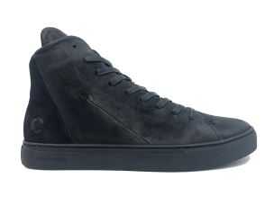 CRIME LONDON 11500 KANE SNEAKER UOMO IN PELLE NERA