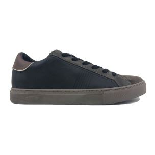 CRIME LONDON 11520 BEAT SNEAKER UOMO IN PELLE NERA E MARRONE