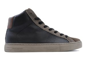 CRIME LONDON 11574 INFINITY SNEAKER UOMO IN PELLE NERA E MARRONE