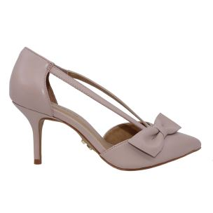 CARRANO 144804 DECOLLETE DONNA IN PELLE NUDE CON TACCO FINO