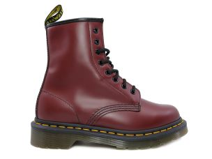 DR. MARTENS 1460 SMOOTH ANFIBIO DA DONNA IN PELLE ROSSA