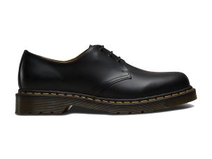 DR. MARTENS 1461 59 BLACK SMOOTH ALLACCIATA UNISEX IN PELLE NERA