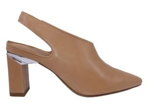 VIC MATIE' 8482 SLING BACK DONNA PELLE BEIGE CON TACCO ALTO