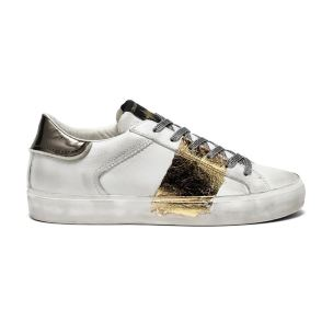 CRIME LONDON 25005 LOW TOP SNEAKER DONNA IN PELLE BIANCA