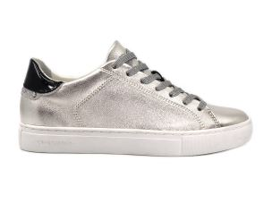 CRIME LONDON 25101 BEAT SNEAKER DONNA IN PELLE ARGTENTO PLATINO