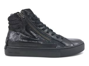 CRIME LONDON 25140 SNEAKER DONNA IN PELEL NERA