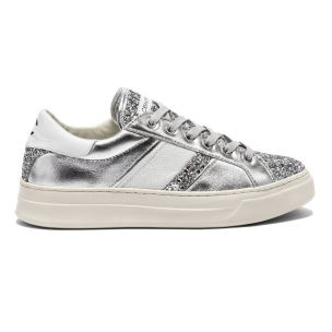 CRIME LONDON 25541 SONIK SNEAKER DONNA IN GLITTER ARGENTO