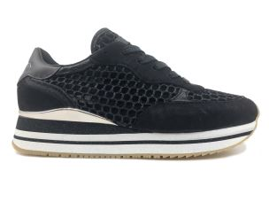 CRIME LONDON 25554 SNEAKER DONNA IN TESSUTO NERA