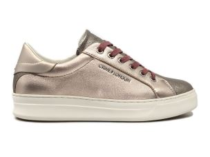 CRIME LONDON 25600 SONIK SNEAKER DONNA IN PELLE PLATINUM