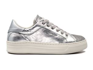 CRIME LONDON 25601 SONIK SNEAKER DONNA IN PELLE ARGENTO