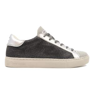 CRIME LONDON 25615 LOW TOP SNEAKER DONNA IN PELLE ARGENTO