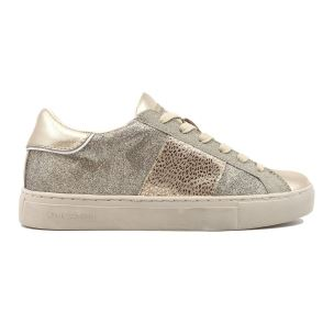 CRIME LONDON 25630 LOW TOP SNEAKER DONNA IN PELLE PLATINO