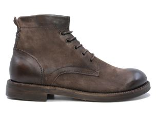 A.S. 98 347220 STIVALETTO UOMO IN PELLE NUBUCK MARRONE