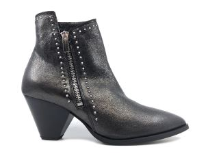 JANET & JANET 42303 STIVALETTO DONNA IN PELLE ANTRACITE