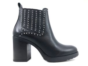 JANET & JANET 42454 STIVALETTO DONNA IN PELLE NERA