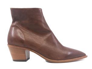 JULIE DEE 4542 CHOCO STIVALETTO DONNA IN PELLE NAPPATA CUOIO