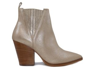 JANET & JANET 45555 STIVALETTO DONNA IN PELLE PLATINO