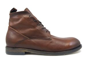 A.S. 98 490214 STIVALETTO UOMO IN PELLE MARRONE