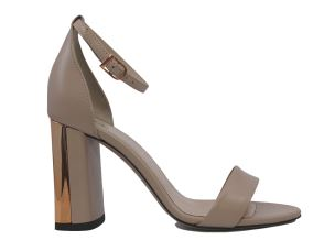 MARC ELLIS NEW YORK 5022 SANDALO DONNA IN PELLE TACCO ALTO