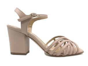 THE SELLER 8448 SANDALO DONNA IN PELLE COLOR NUDE