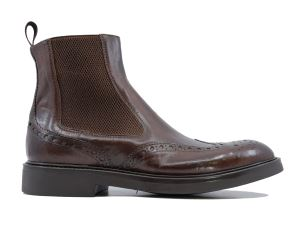 CORVARI 9046 STIVALETTO UOMO IN PELLE MARRONE