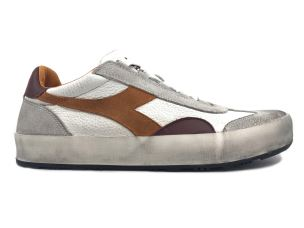 DIADORA B.ORIGINAL H LEATHER DIRTY SNEAKER UOMO BIANCA