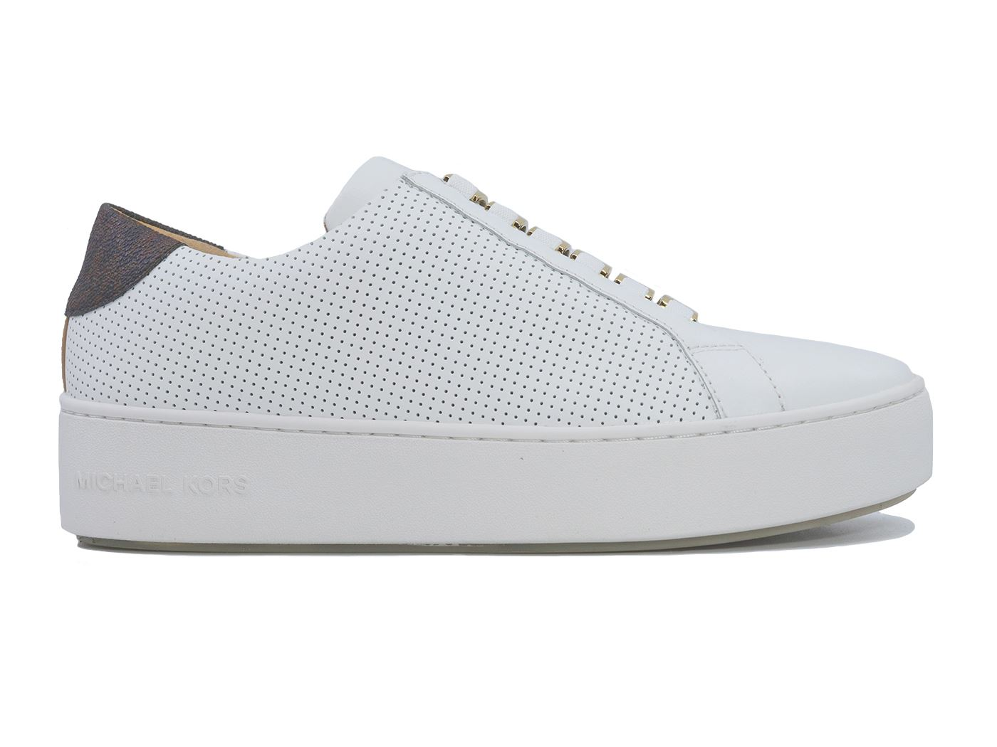 MICHAEL KORS CAMERO SNEAKER LASERED SNEAKERS DONNA BIANCA
