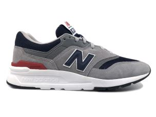 NEW BALANCE M997HCJ SUEDE MESH GREY NAVY RED SNEAKER UOMO