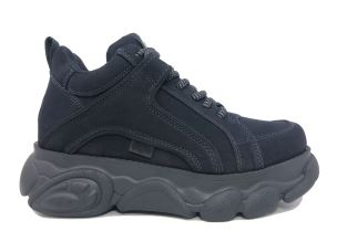 BUFFALO CORIN NAVY SNEAKER DONNA IN SIMIL NUBUK BLU SCURO