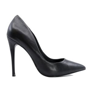 STEVE MADDEN DAISIE BLACK DECOLLETE' NERO IN PELLE