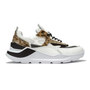 D.A.T.E. FG-AN-WD FUGA SNEAKERS DONNA IN PELLE LEOPARDO