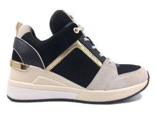 MICHAEL KORS GEORGIE TRAINER SNEAKER DONNA IN TESSUTO NERO