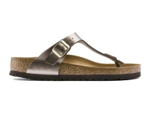 BIRKENSTOCK GIZEH BS ELECTRIC METALLIC TAUPE SANDALO TAUPE