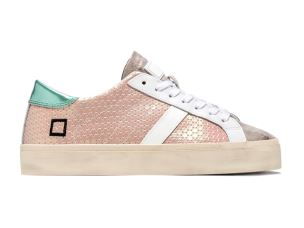 D.A.T.E. HD-PX-PK SNEAKERS DONNA IN PELLE SATINATA ROSA