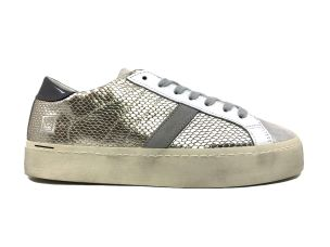 D.A.T.E. HD-RL-PL SNEAKERS DONNA IN PELLE PLATINO