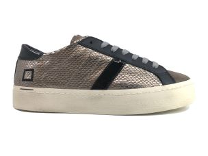 D.A.T.E. HD-RL-PM SNEAKERS DONNA IN PELLE BRONZO