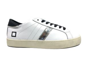 D.A.T.E. HL-PO-PW BIANCO SNEAKERS DONNA IN PELLE BIANCA