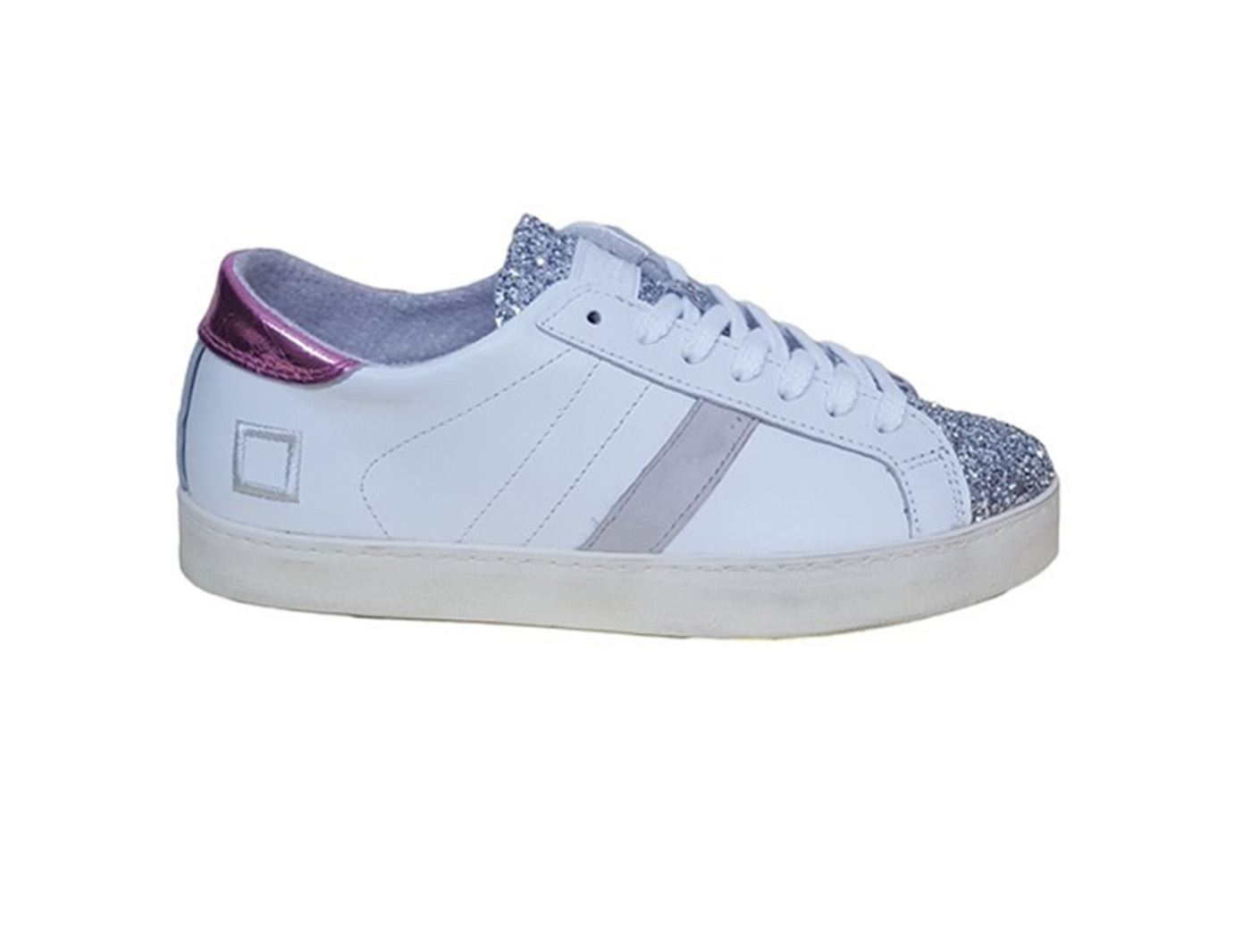 D.A.T.E. HL-PO-WS PELLE BIANCO/ARGENTO SNEAKERS DONNA PELLE HL-PO-WS MainApps 20cd38
