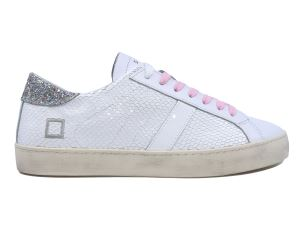 D.A.T.E. HL-RO-WS SNEAKERS DONNA IN PELLE BIANCA
