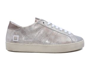 D.A.T.E. HL-ST-PL SNEAKERS DONNA PELLE SCAMOSCIATA PLATINO