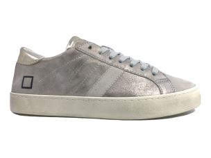 D.A.T.E. HL-ST-PL SNEAKERS DONNA IN PELLE PLATINO